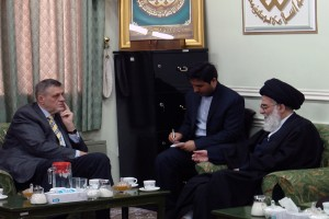 Meeting of U.N.'s representative in Iraq with Grand Ayatollah Hashemi Shahroudi