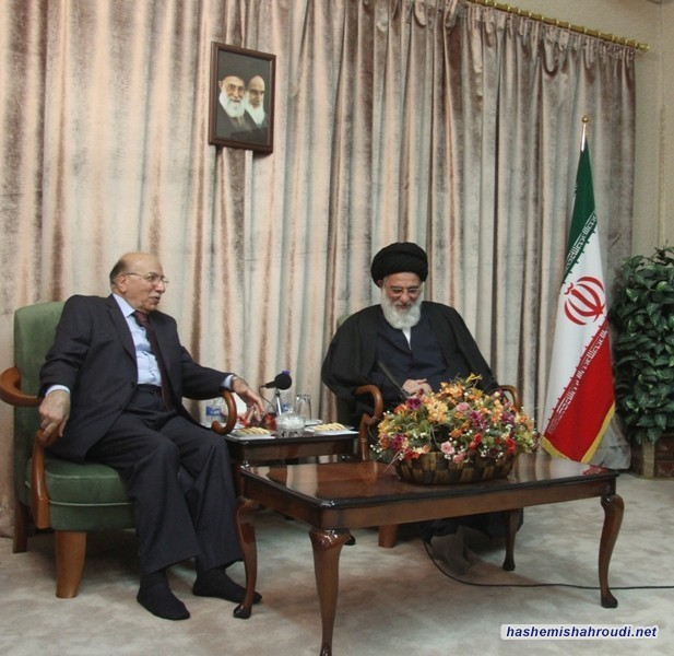 Chief Justice of the Supreme Council of Iraq met with Grand Ayatollah Hashimi Shahroudi