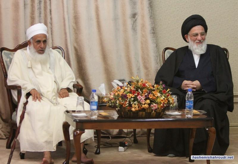 دیدار مفتی اعظم عمان با حضرت آیت الله العظمی هاشمی شاهرودی (دام ظله)