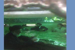 تقریر مصور سماحة آية الله العظمى السيد محمود الهاشمي(مدظله) يشارك في مراسم تنظيف وتعطير مرقد كريمة أهل البيت السيدة فاطمة المعصومة (سلام الله عليها)